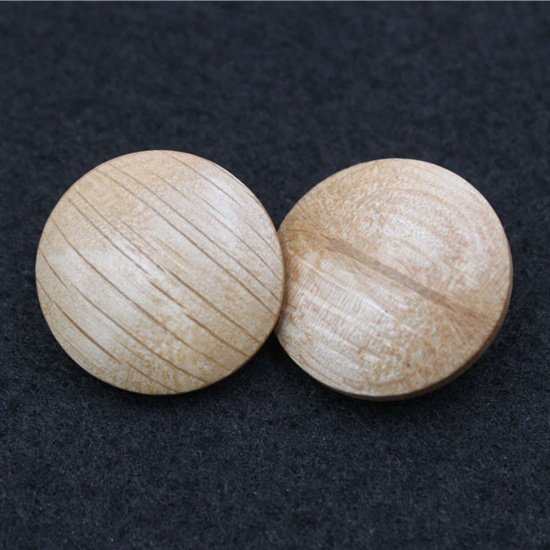 Wood Button With Shank