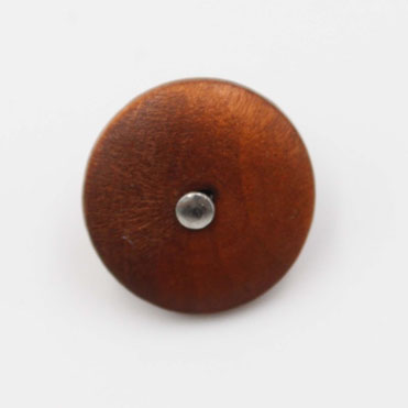 Wood Jeans Button With Shank