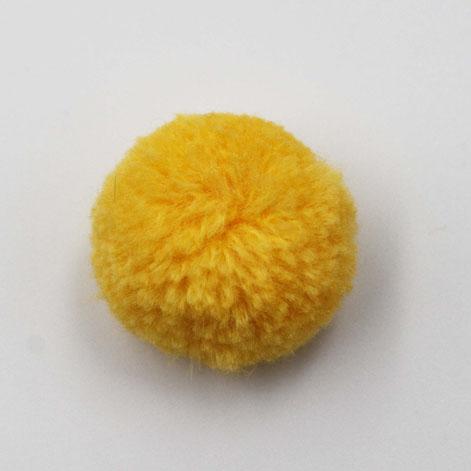 Yellow Pompom Trimming