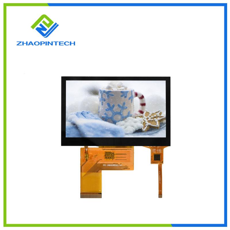 5 дюйм 800x480 СКД сенсорлық экраны