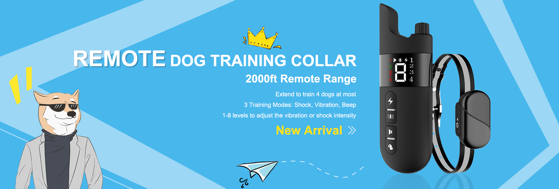 New Product USB Rechargeable Remote Dog Training Collar Waterproof