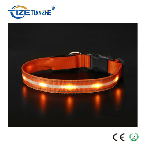 Heavy Duty USB Rechargeable Waterproof Glow in Darkness LED Dog Collar