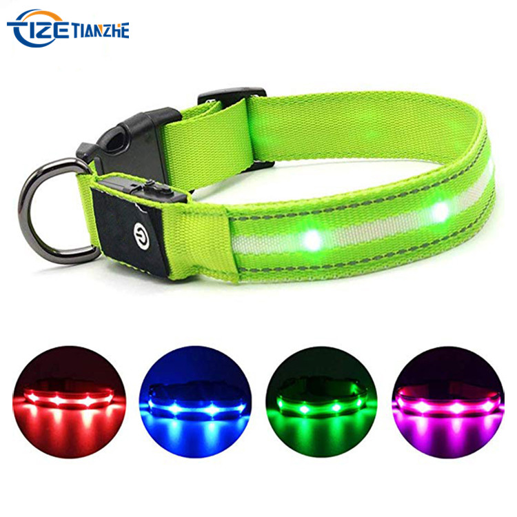 Luminous USB Rechargeable Waterproof LED Dog Collar
