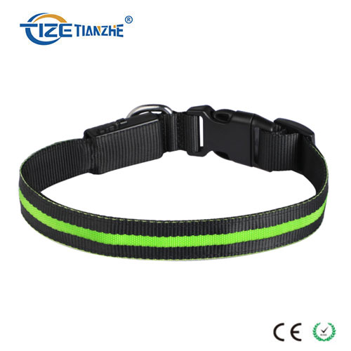 Durable Luminous USB Rechargeable Waterproof LED Dog Collar