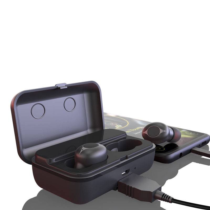 IPX 5 waterproof sports TWS bluetooth earbuds wireless headset with charging box