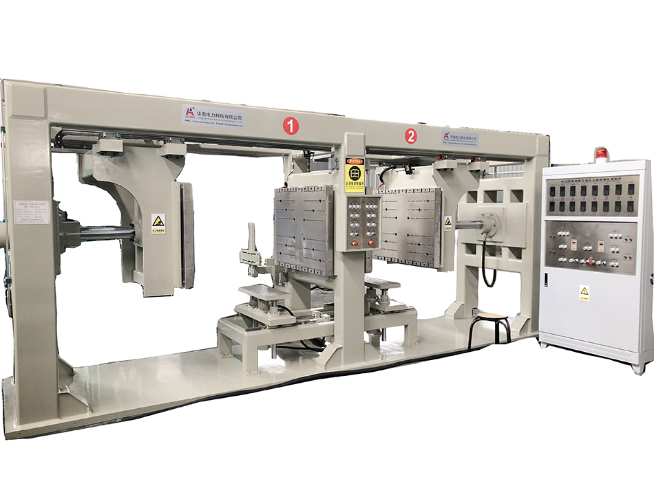 Double-station APG clamping machine exported to Brazil