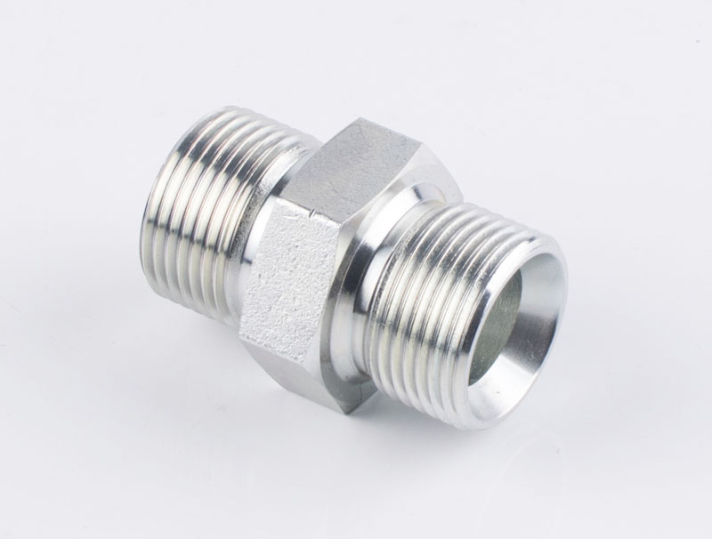 HYDRAULIC STRAIGHT CONNECTOR  BSP MALE DOUBLE USE FOR 60° CONE SEAT OR BONDED SEAL 1B
