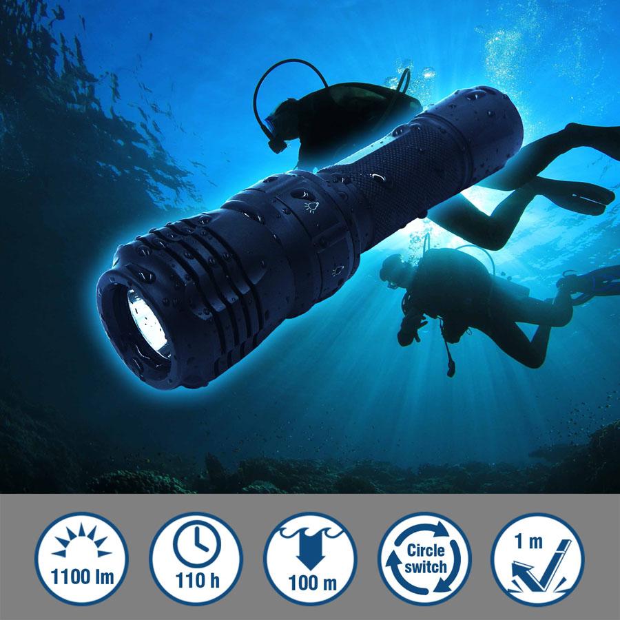 Alüminium 100 metr dalğıc lampası