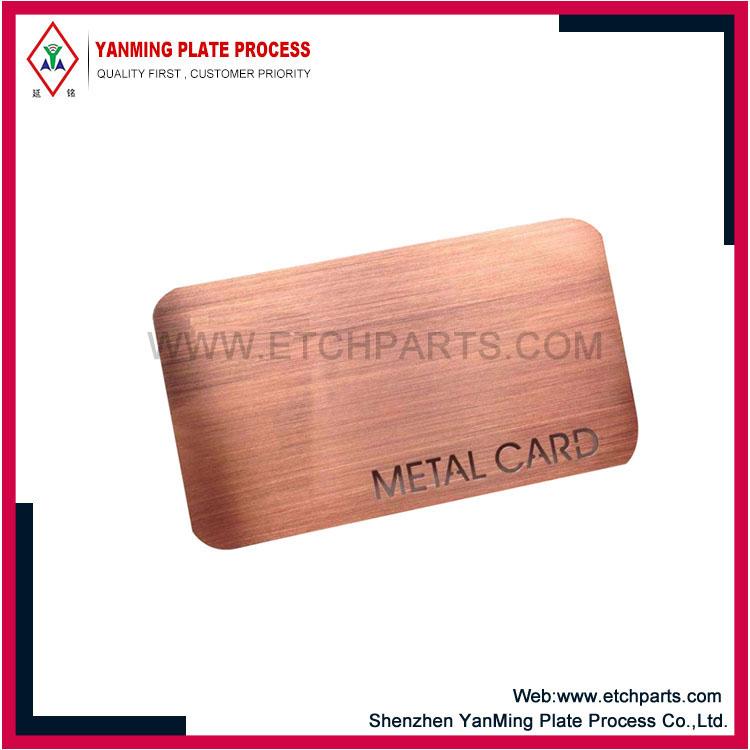 Stainless Steel Member Card