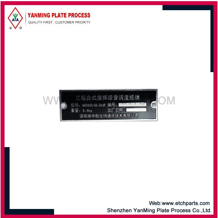 Mærkater af aluminiumsmaskiner