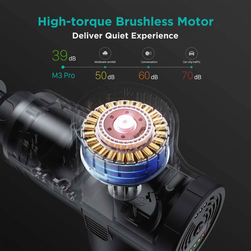 Mini 12V DC Power Sports Vibration Massager Device Electric Muscle Percussive Vibrating Deep Tissue Massage Gun