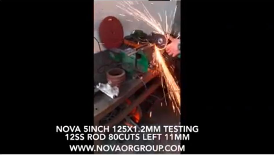125x1.2 میلی متر نوا 5 اینچ ساینده برش چرخ از کارخانه چینی تولید کننده نوا گروه