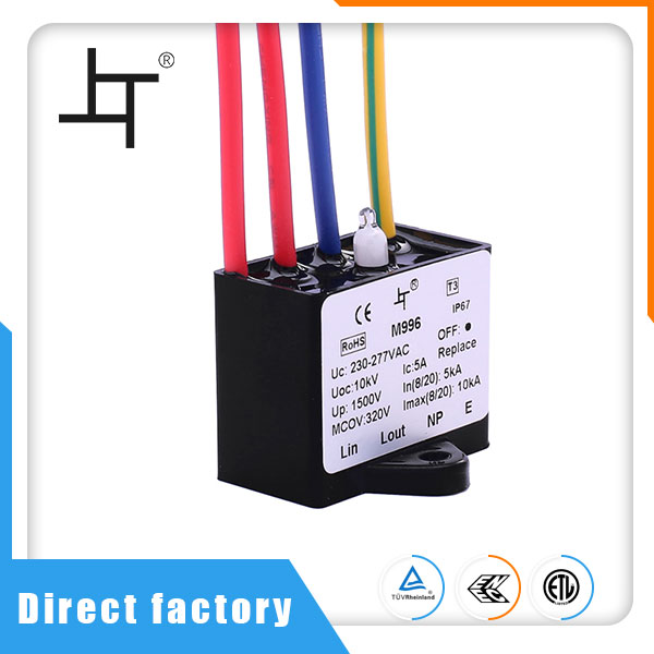 T3 IP67 LED Street Lamp Head Surge Protection Device