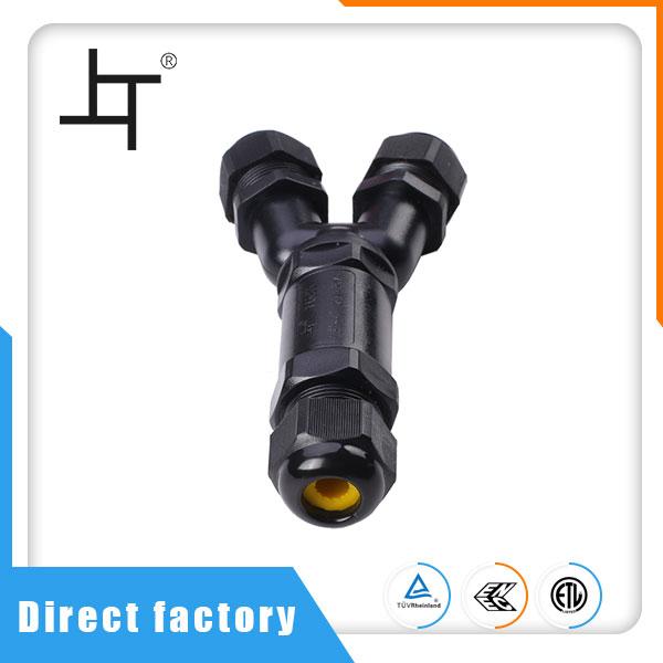 Y Typ jeden kabel do dvou vodotěsných konektorů