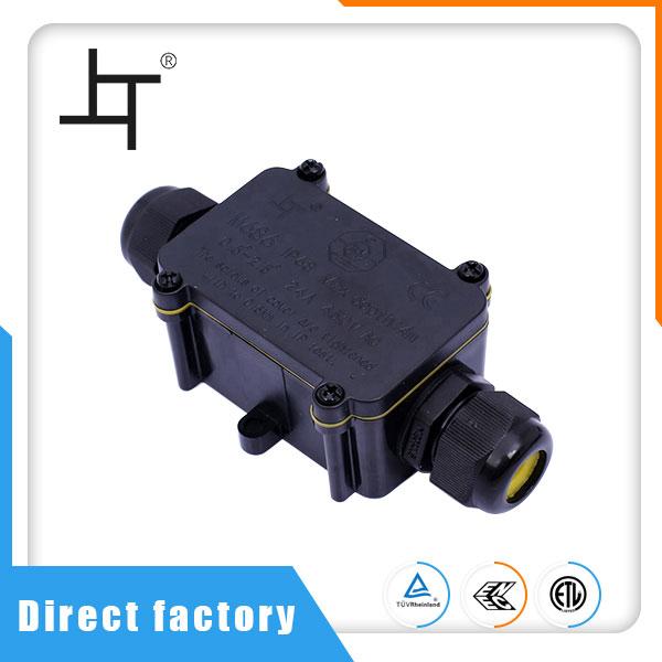 Vodotěsná propojovací krabice pro venkovní LED svítilnu