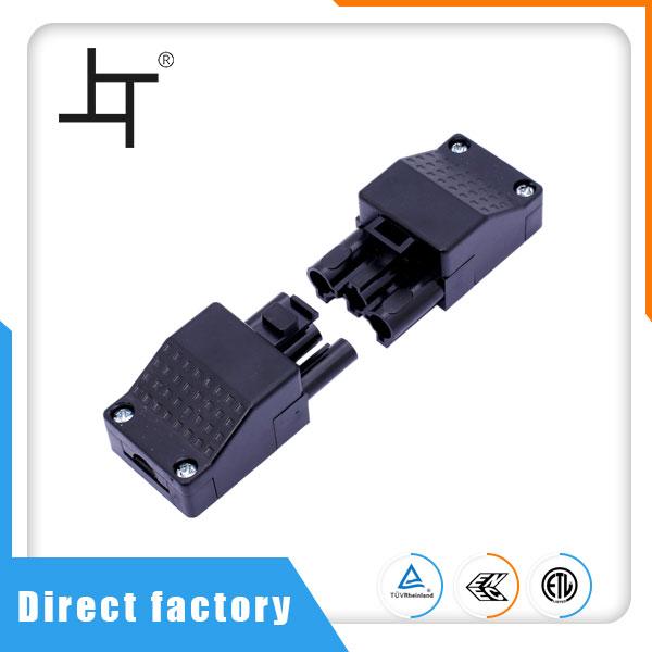 Бързо свързване 3 пинов 16A 500v мъжки женски пластмасов електрически проводник и кабелен конектор