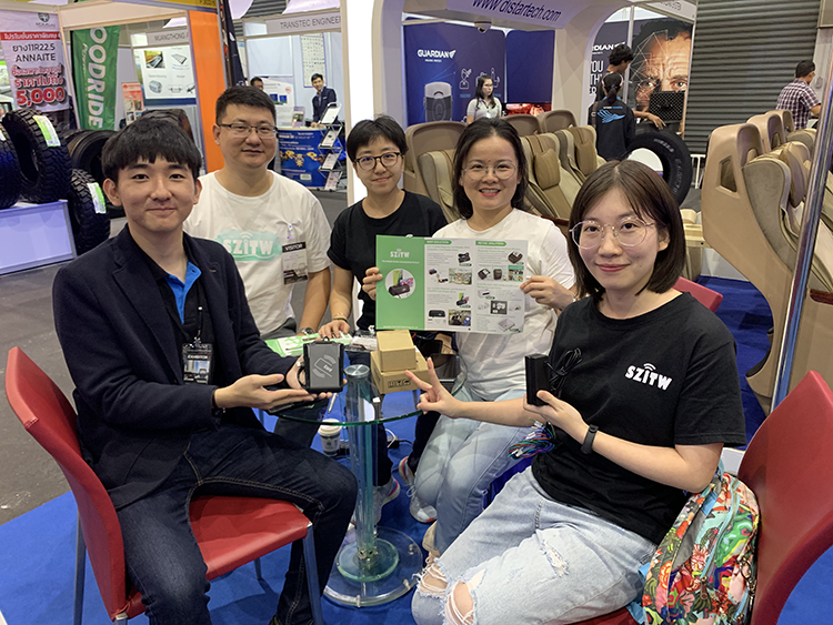 On November 2019, the team of Shenzhen Techwell visited Bangkok international bus and truck exhibition