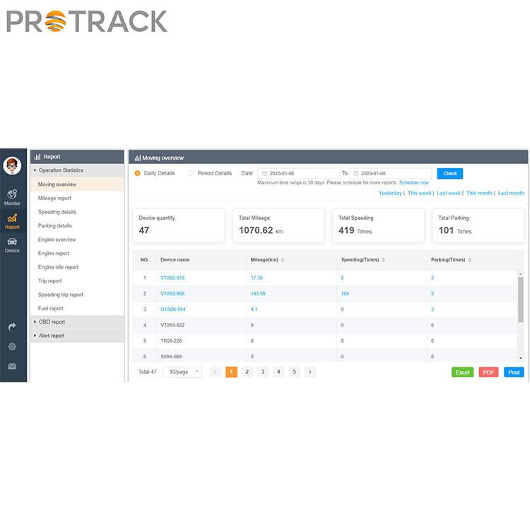 سیستم ردیابی خودرو مدیریت آنلاین