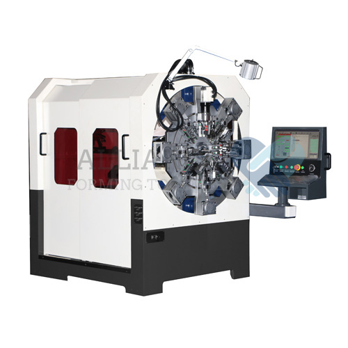 WF-1228R 0.4-2.8mm 12-14 axis camless CNC wire rotating wire forming machine