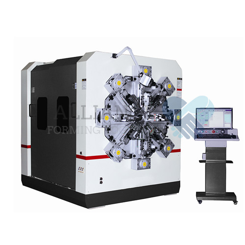 WF-1250R 1.5-5.0mm 12-14 axis camless CNC wire rotating wire forming machine