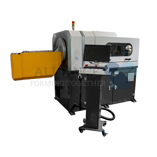 WB-3D308 2.5-8.0mm 3 Axis 3D CNC head rotary wire bending machine