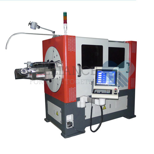 WB-3D508 2.5-8.0mm 5 Axis 3D CNC head rotary wire bending machine