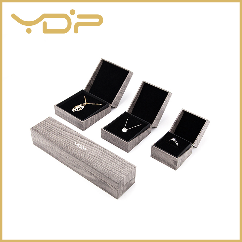 Wooden Texture Paper Jewelry Gift Box