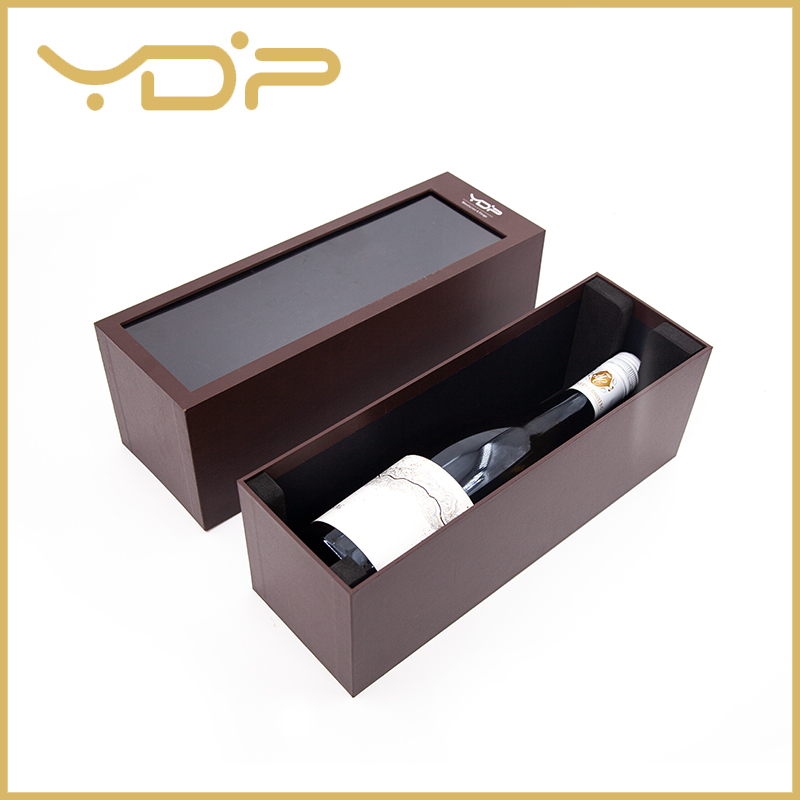 PVC Windows Cardboard Whisky Wine Box