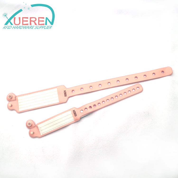 NFC PVC RFID Wristbands For Patient