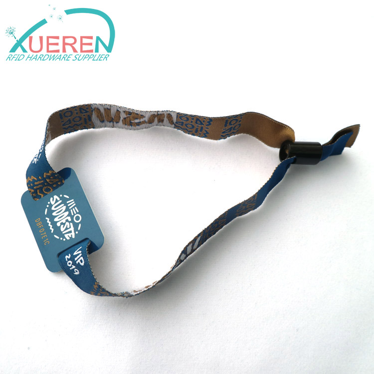 RFID fabric wristband for events