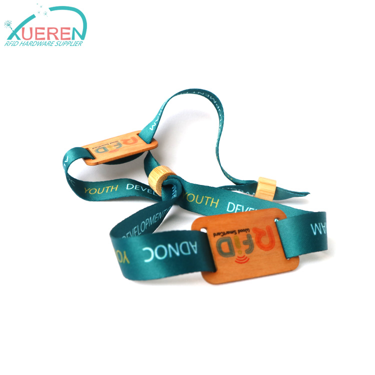 RFID wood wristband for events