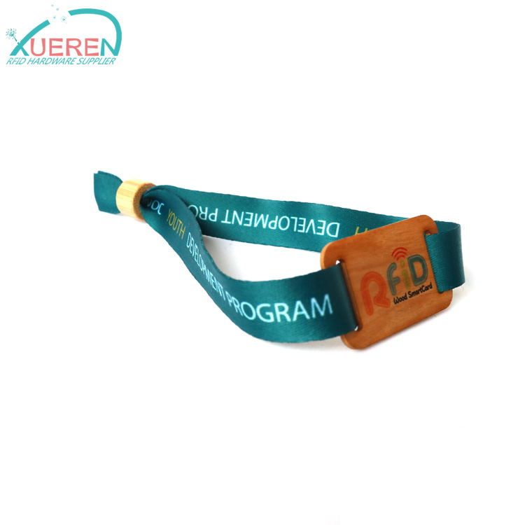 Eco friendly RFID Wristband Wooden Cards For Events