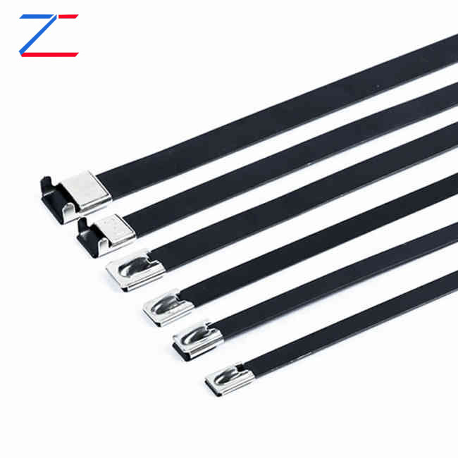 Coated L Buckle Stainless Steel Cable Ties