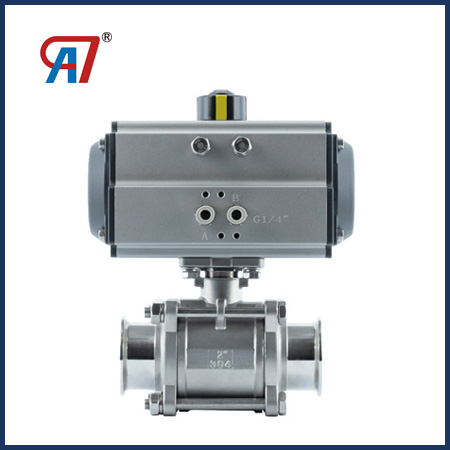 Pneumatic Three Piece Clamp Ball Valve