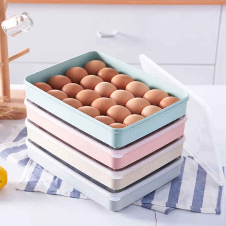 24 Grids Plastic Egg Storage Box With Lid