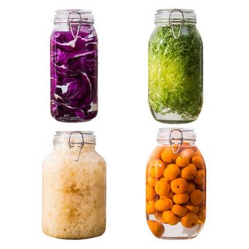 3L Large Sealed Kitchen Grain Transparent Self-brewed Wine Glass Storage Jar