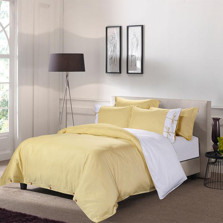 Latest Design Hotel Linen Bedding Beige