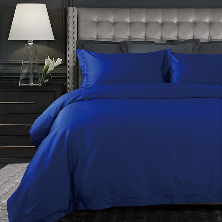 Premium Comfort Bedding Set Satin Dark Blue