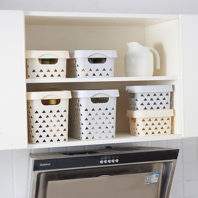 Country Style Bathroom Cosmetic Plastic Kitchen Storage Basket