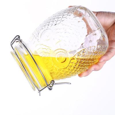 Creative Lemon Candy Glass Storage Kimchi Multigrain Airtight Honey Jar