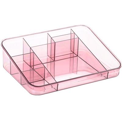 Desktop Transparent Plastic Cosmetic Lipstick Skincare Finishing Dressing Table Rack Storage Box