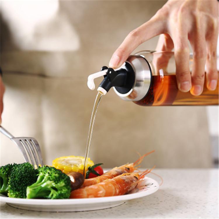 High Borosilicate Glass Vinegar Press Control Pot Pouring Oil Bottle