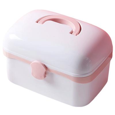 Household Portable Plastic Multi-layer Storage Children Small Medicine Box
