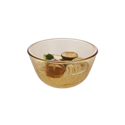 Household Round Glass Soup Transparent Heat-resistant Amber Noodle Large Bowl