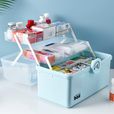 Household Super Large Capacity Portable Multi-layer Standing Storage First Aid Medicine Box