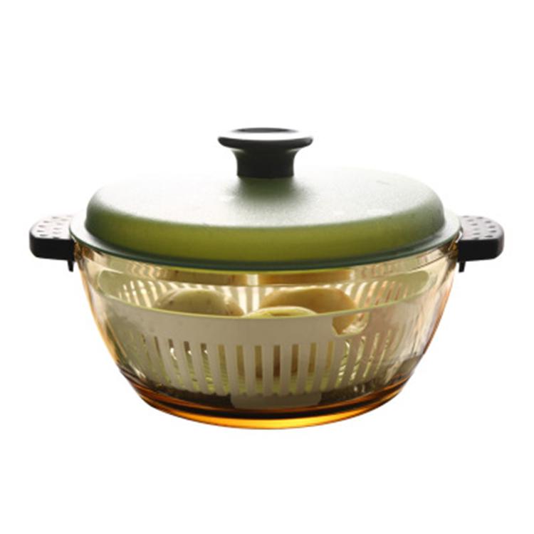 Household Transparent Heat-resistant Amber Milk Microwave Glass Soup Pot