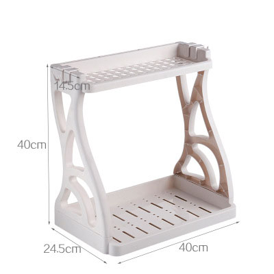 Kitchen Bathroom Bedroom Desktop Finishing Japanese-style Plastic Spice Storage Rack
