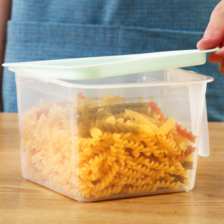 Food Organizer Plastic Storage Boxes With Lids Handle