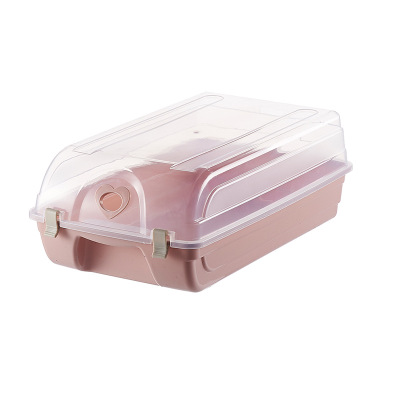 Large transparent finishing Plastic Thickening Stack Storage Shoe Box