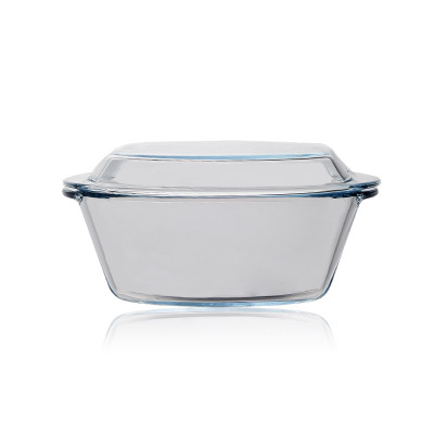 Microwave Oven Special High Borosilicate Glass Lid Crystal Pot Double Ear Baking Bowl